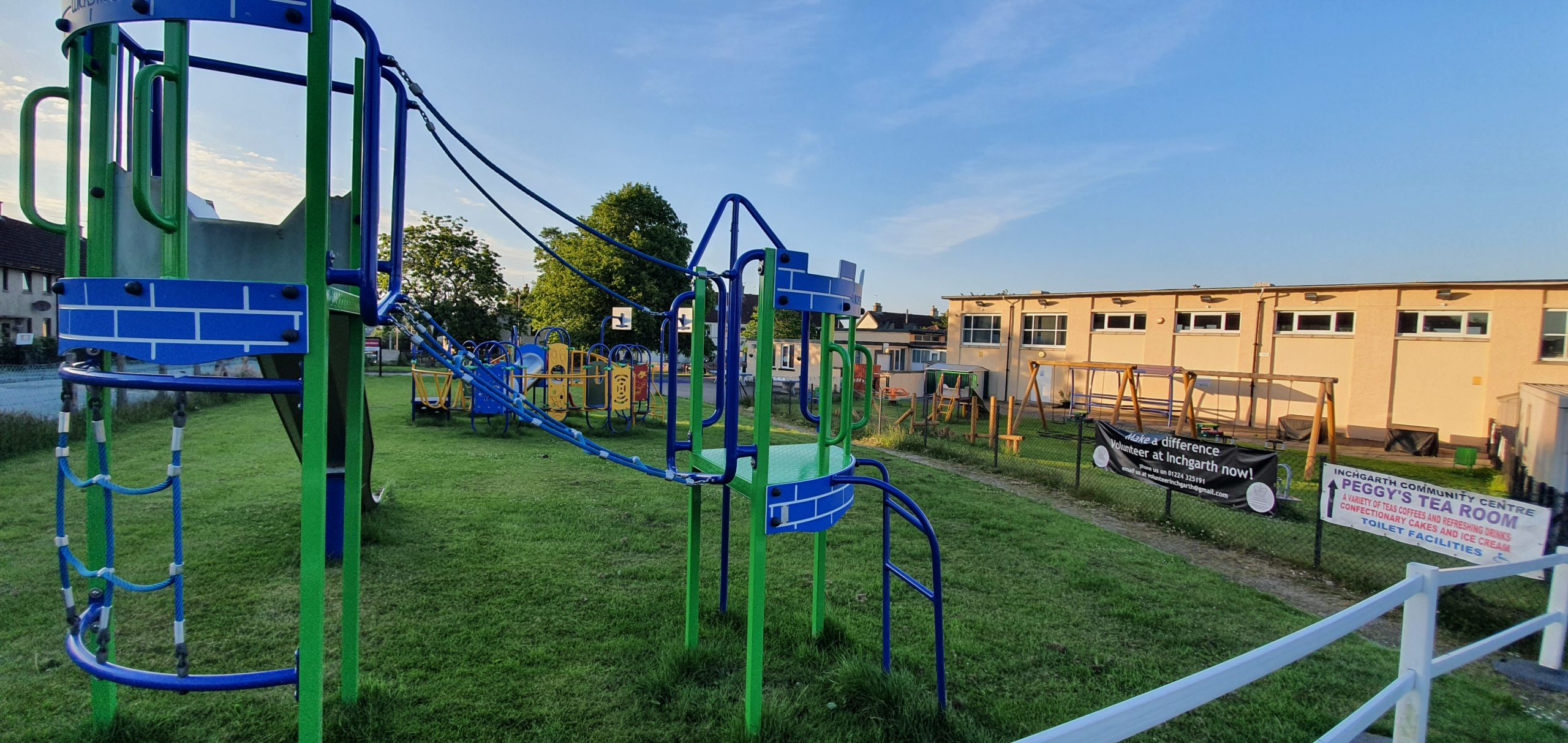 The Inchgarth play park will open on Monday