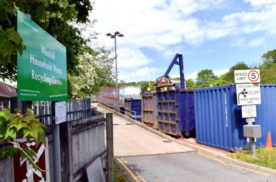 Residents can book trips to recycling centres twice a week now