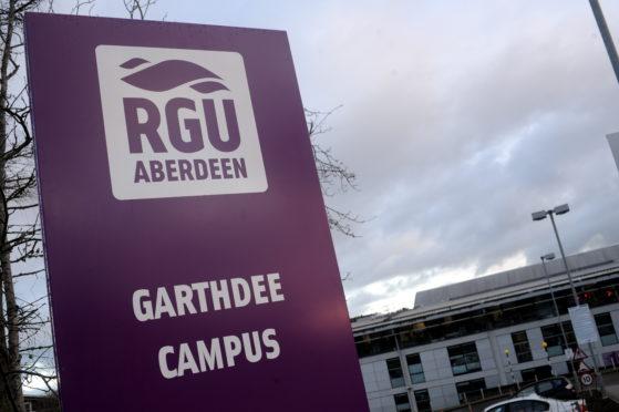Robert Gordon University (RGU) Campus on Garthdee Road, Aberdeen.