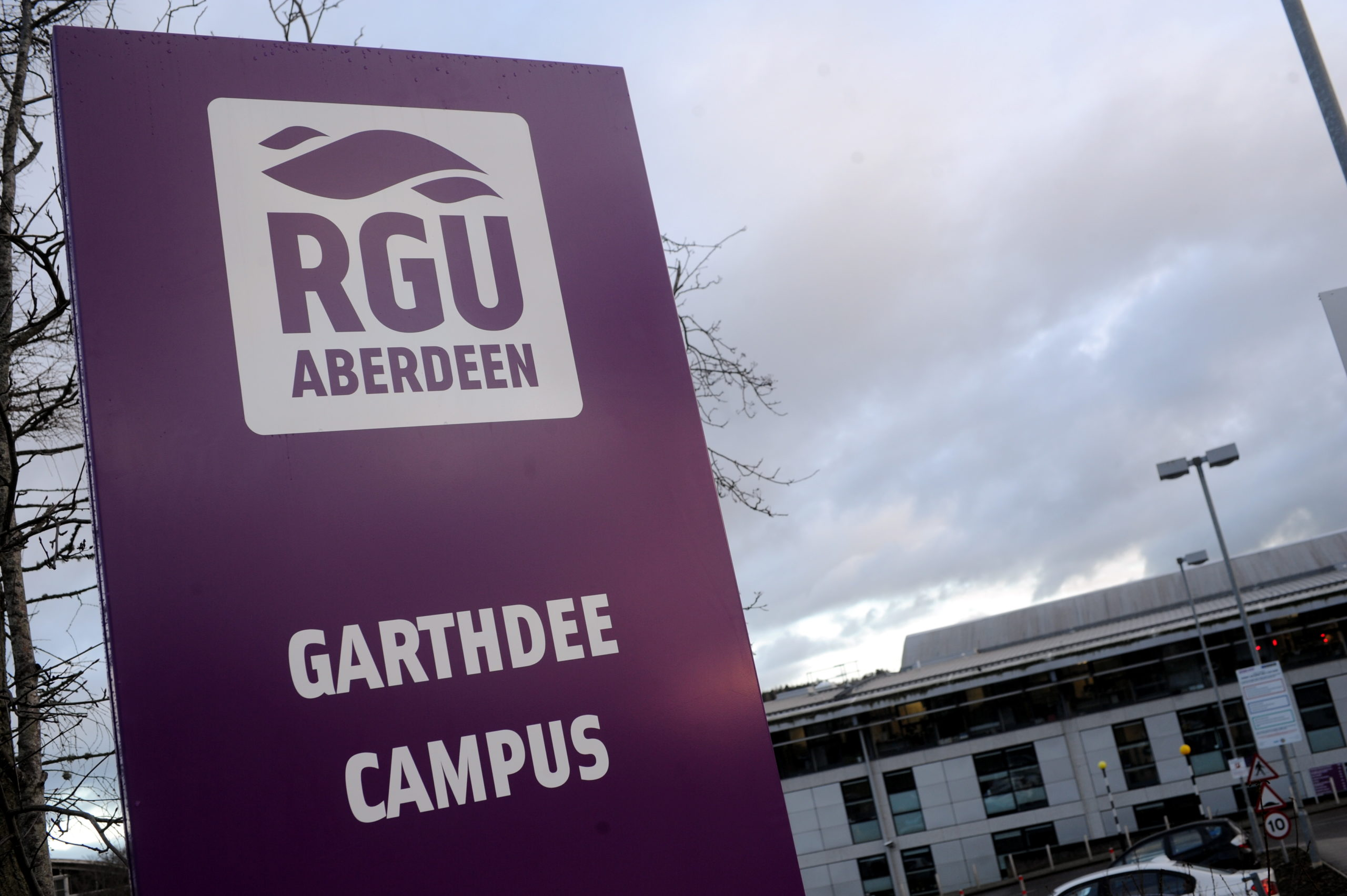 Robert Gordon University (RGU) Campus on Garthdee Road, Aberdeen.