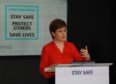 Nicola Sturgeon at a coronavirus briefing.