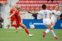 Photo by Rick Bowmer/AP/Shutterstock (10697074c) Houston Dash forward Rachel Daly (3) scores past Utah Royals FC defender Elizabeth Ball (7) during the first half of an NWSL Challenge Cup soccer match at Zions Bank Stadium, in Herriman, Utah.