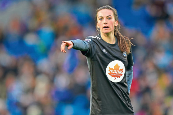 Scotland international Chloe Arthur has signed for Aston Villa Photo by Sean Ryan