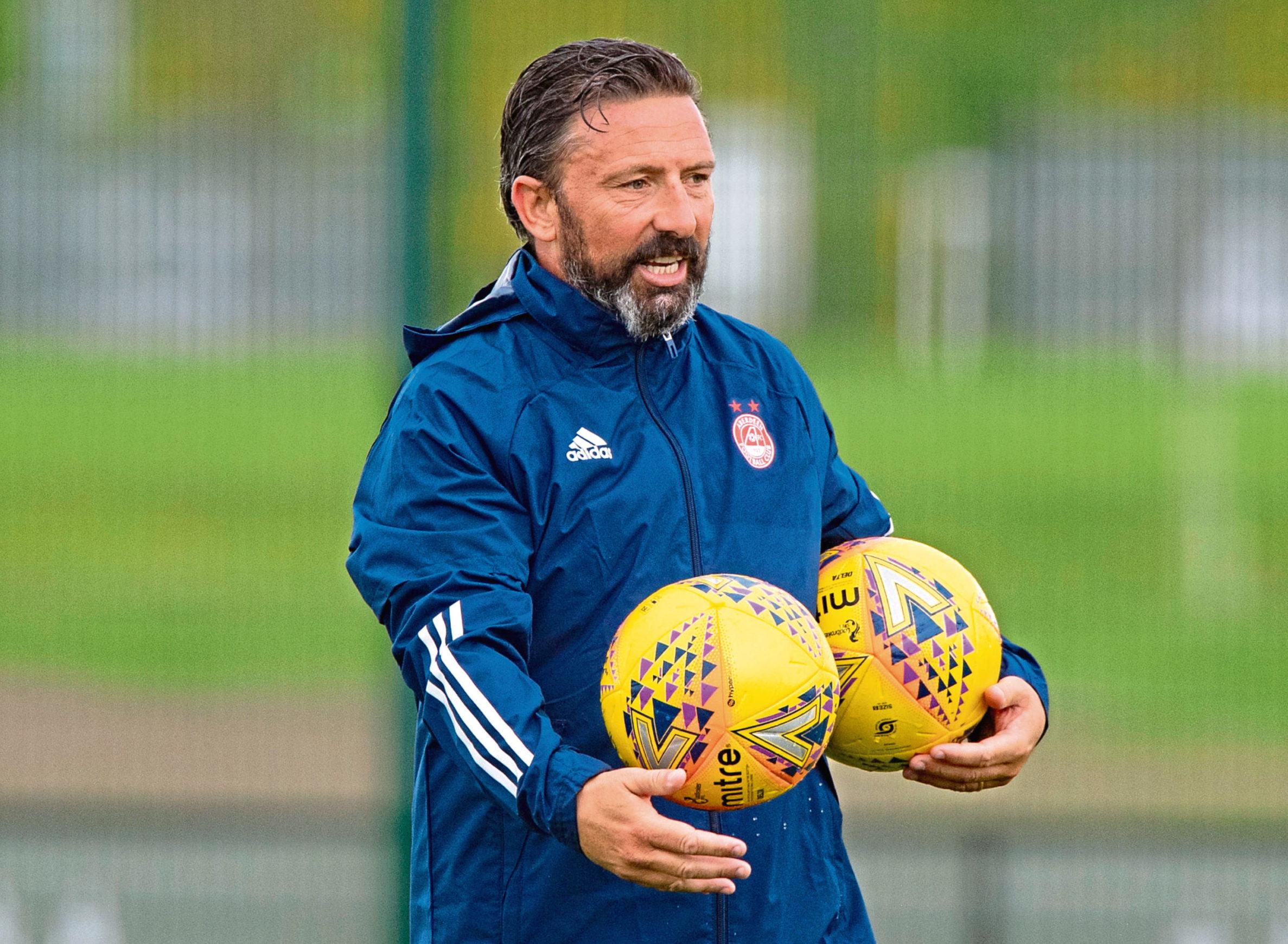 Dons boss Derek McInnes.