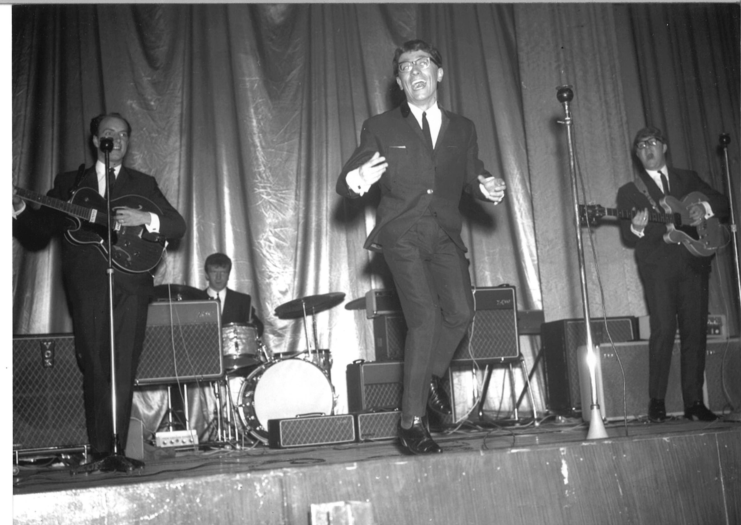 Frank's band supported groups like Freddie and the Dreamers in the 1960s