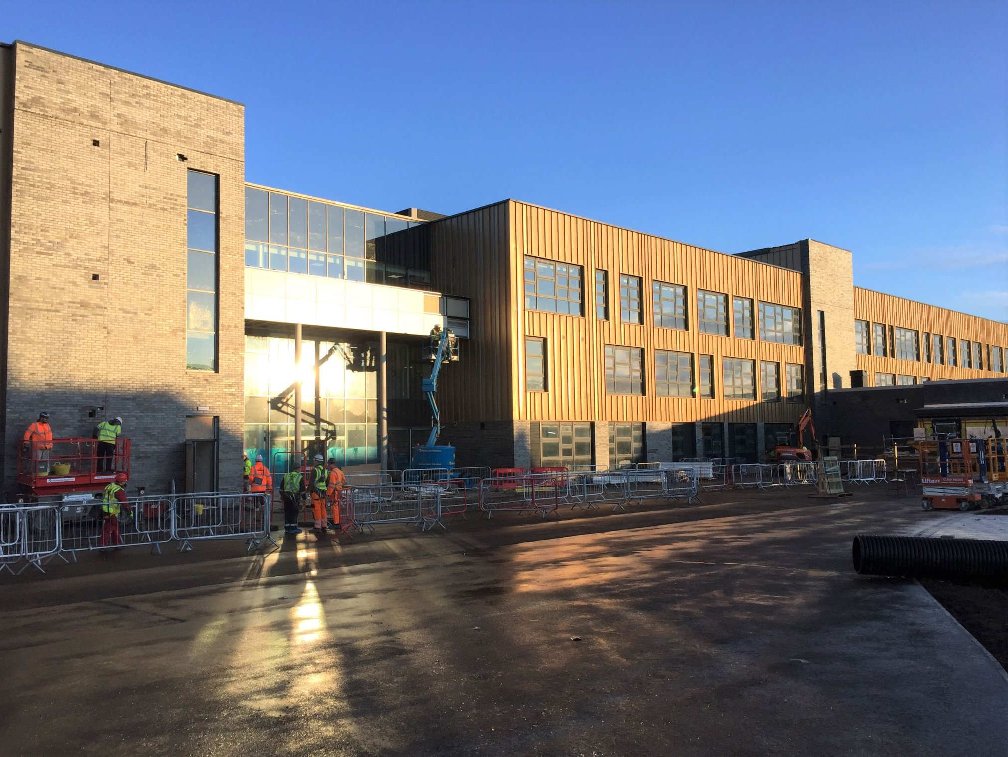 Work on the £55m Inverurie Community Campus project is ongoing.