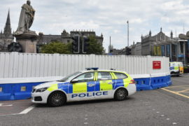 Police at the scene in Aberdeen city centre