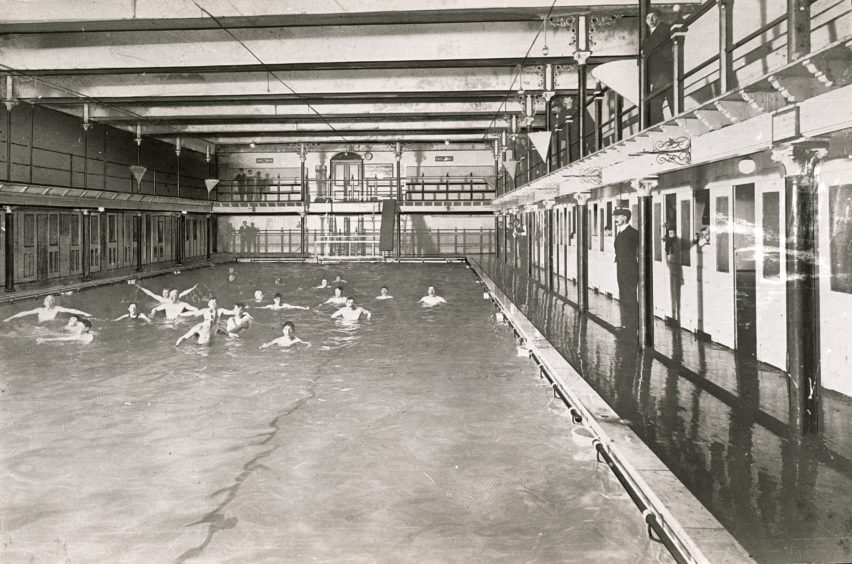 The swimming pool in the Bathing Station was salt water before converting to a freshwater supply in 1958. Despite a renovation in 1964, its gradual deteriorating condition and decline in use led to its closure on 11th July 1972 and the building was subsequently demolished.