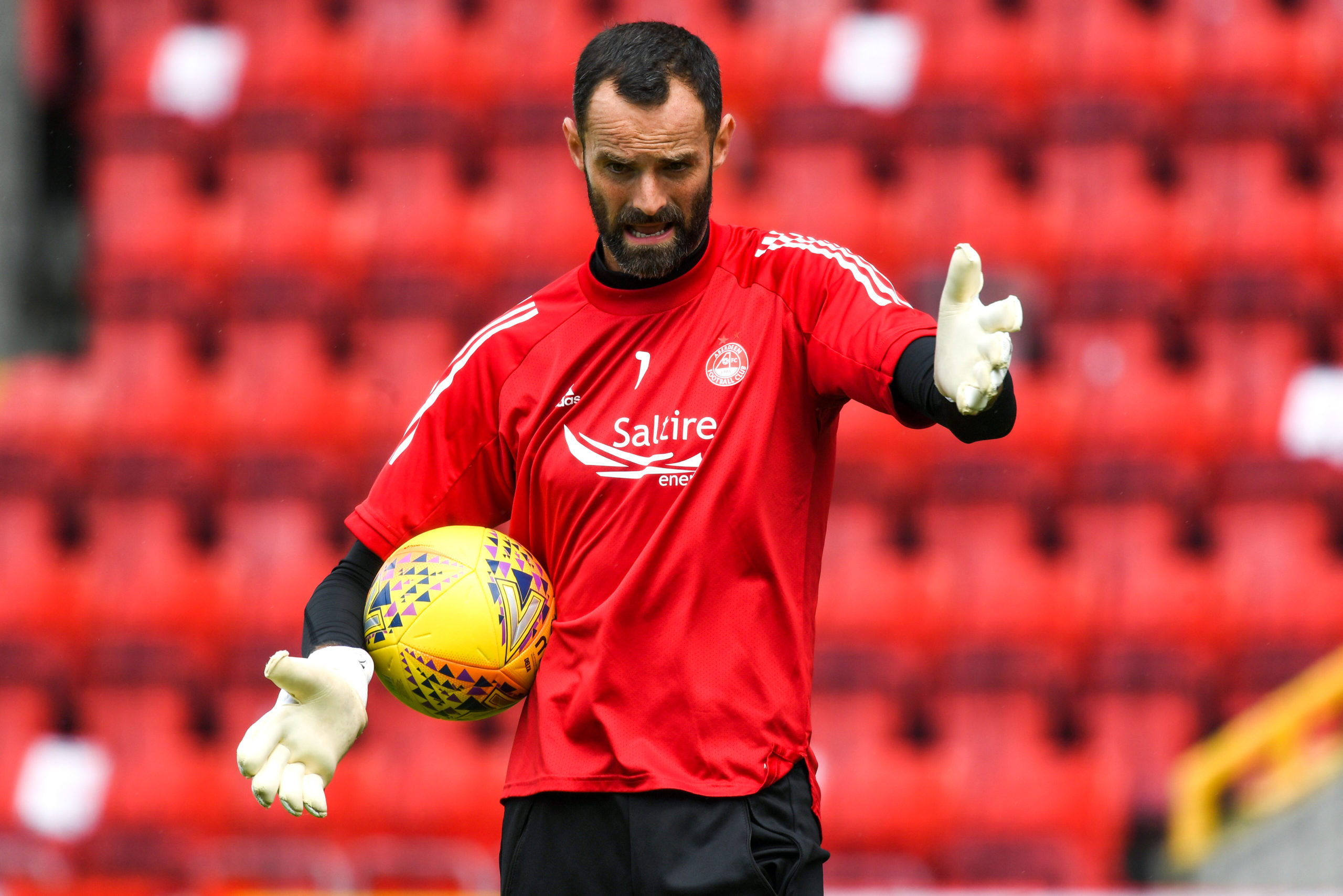 Aberdeen captain Joe Lewis.