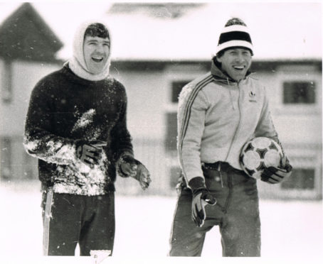 Marc de Clerck, right, with Bobby Clark.