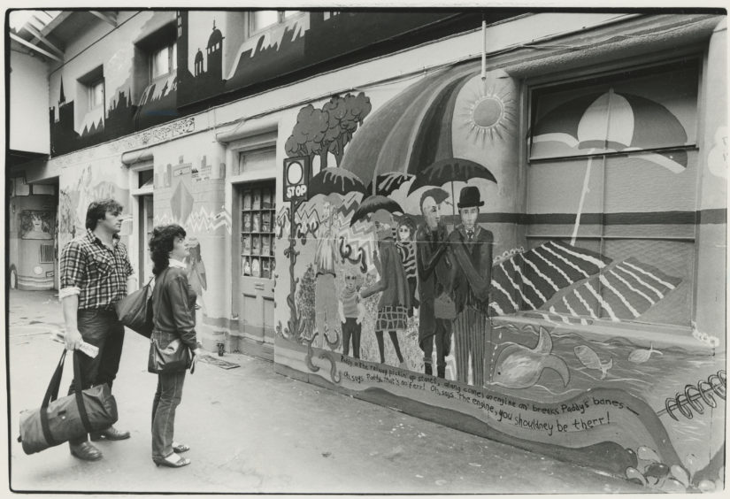 1985: Visitors to Aberdeen will now be greeted by a picture of the world through the eyes of the city's young. Over the past three weeks, 50 Aberdeen youngsters have created an 80ft long mural on either side of an entrance passage at Aberdeen Railway Station.  Organised by International Youth Year in the city its main themes are peace, participation and development.