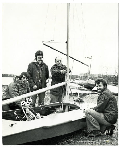 1977: Fireball dinghy crews (left to right) Colin Cattanach, Forbes Mitchell, Johnnie Johnson and Edward Bissett who will be Scotland's representatives in the European Fireball Championships to be held in July in West Germany.