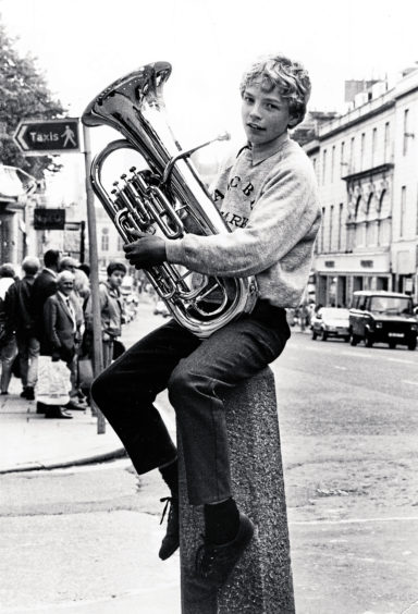 1988: Cove youngster David Henderson, 13 found the key to success and the most uncomfortable perch in Union Street when he won the euphonium and baritone class at the Aberdeen and North East of Scotland Music Festival. The Kincorth Academy pupil won the event in the Kirk Hall and was one of a host of stars at the festival, labelled the friendly competition.