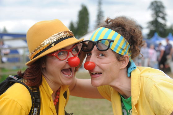 Clown doctors are helping to support children across Scotland