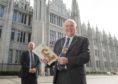 Aberdeen Lord Provost Barney Crockett and Neil MacLennan, left