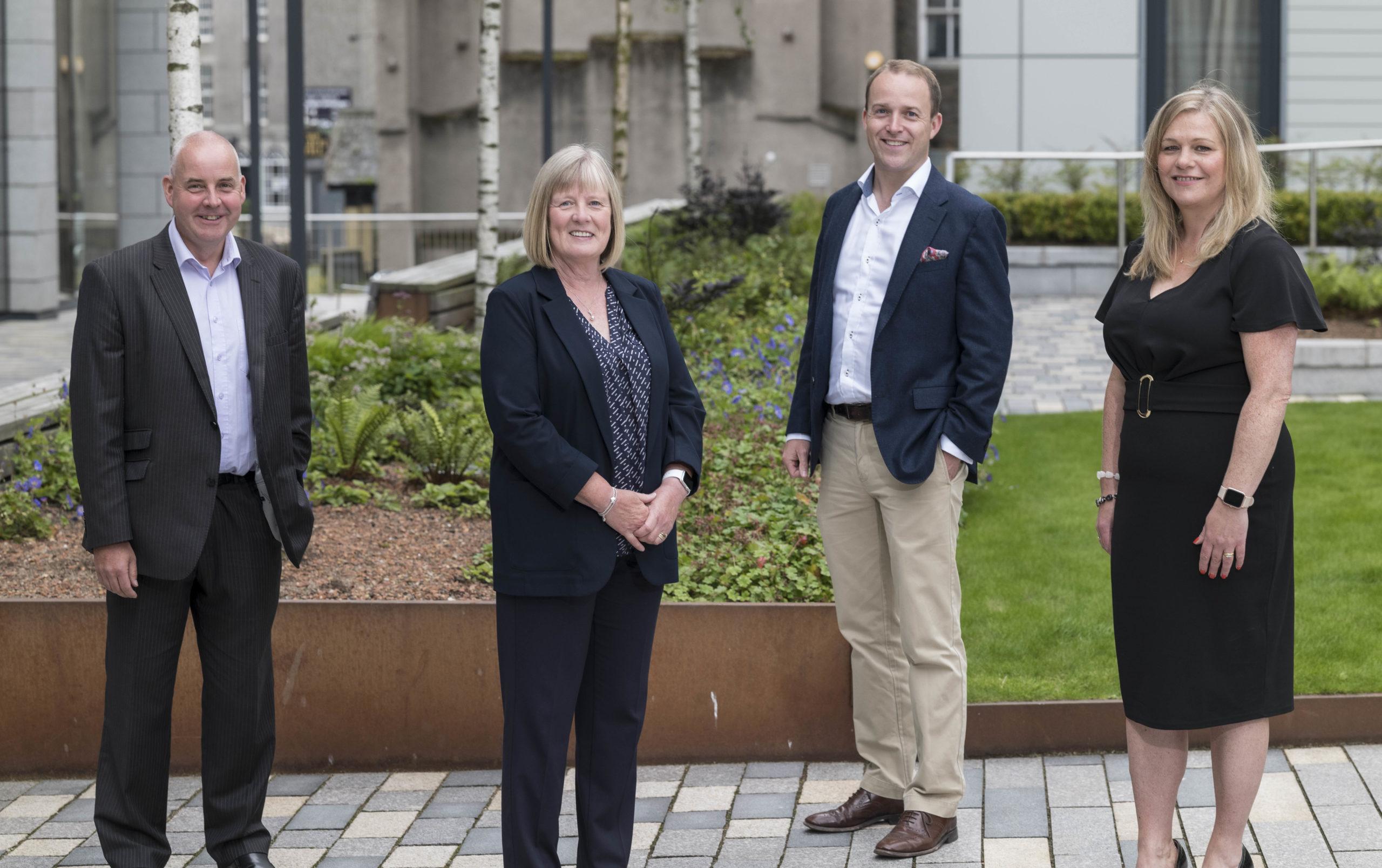 Blackford's new group director and board member Chris Tosh, Maureen Stewart, MD Tom Aldridge and Pam Mackintosh