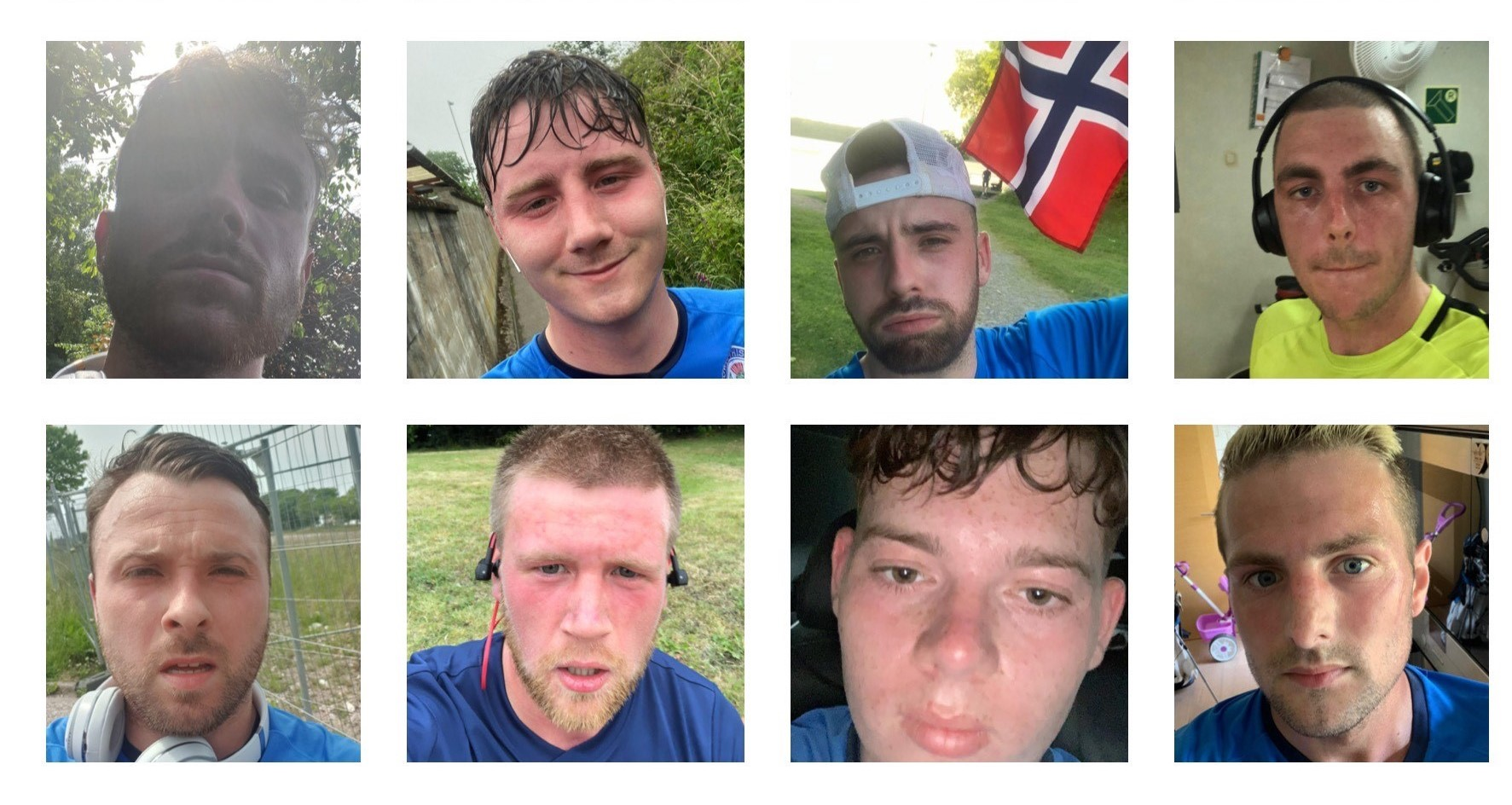 Some of the Cowie Thistle runners