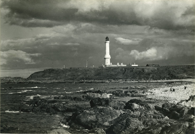 Further south, across the harbour mouth and beyond Greyhope Bay, can be found Girdleness Lighthouse. It was designed by engineer Robert Stevenson, grandfather of author Robert Louis Stevenson, and came into use on 15th October 1833. It remains a prominent landmark when looking south from Aberdeen Beach.