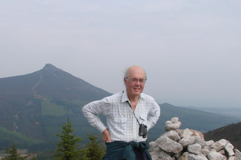 Dr John Hern, the former Medical Director at Aberdeen Royal Infirmary, hillwalking on Bennachie.
