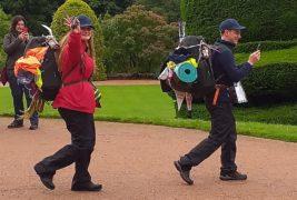 Edoardo and Daria set off