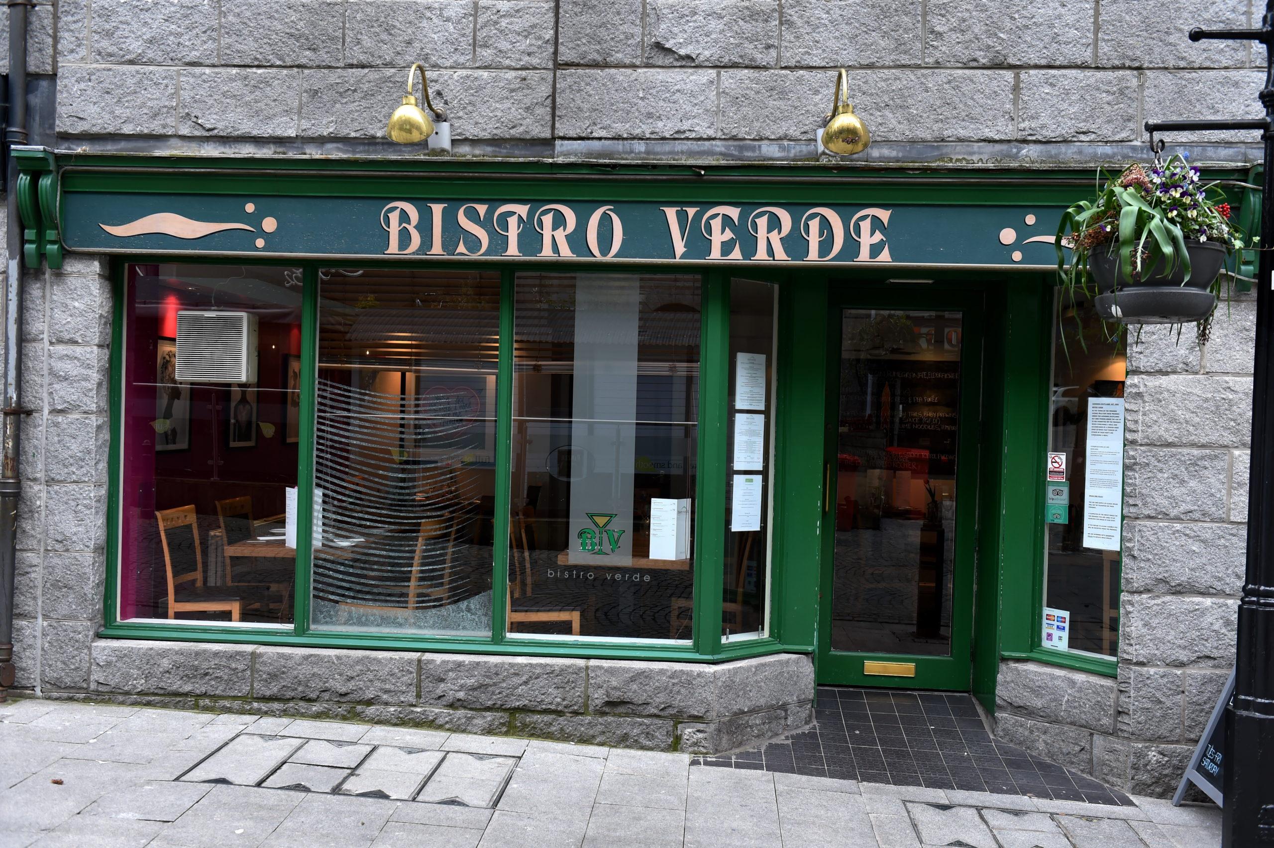 Bistro Verde in Aberdeen city centre