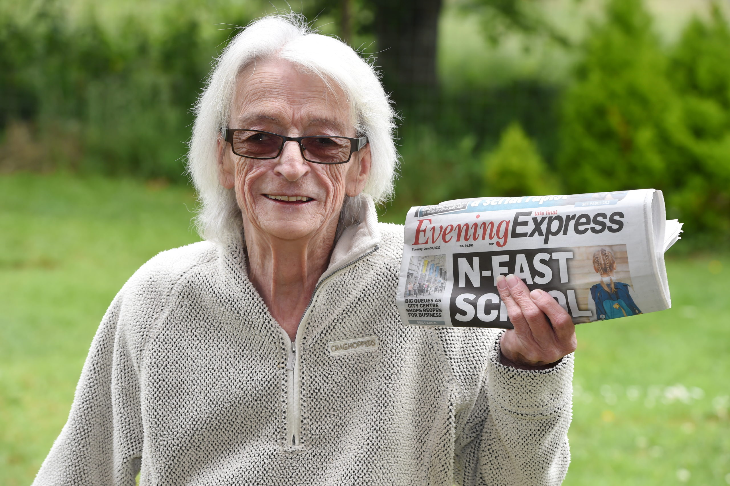 CR0022123 Evening Express bingo winner Helen Pirie, who has won £250.  Picture by Kenny Elrick     30/06/2020