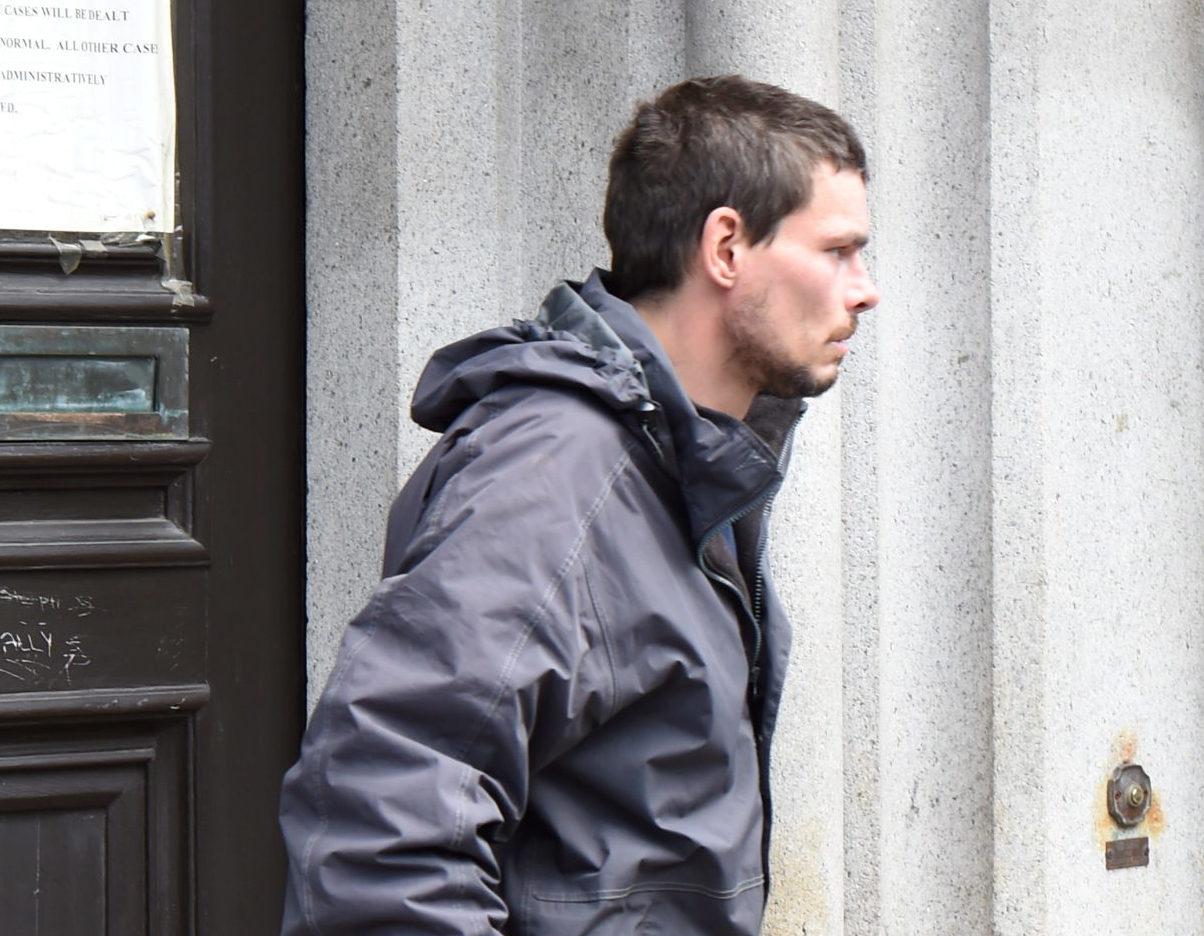 Ian Gray leaving court.