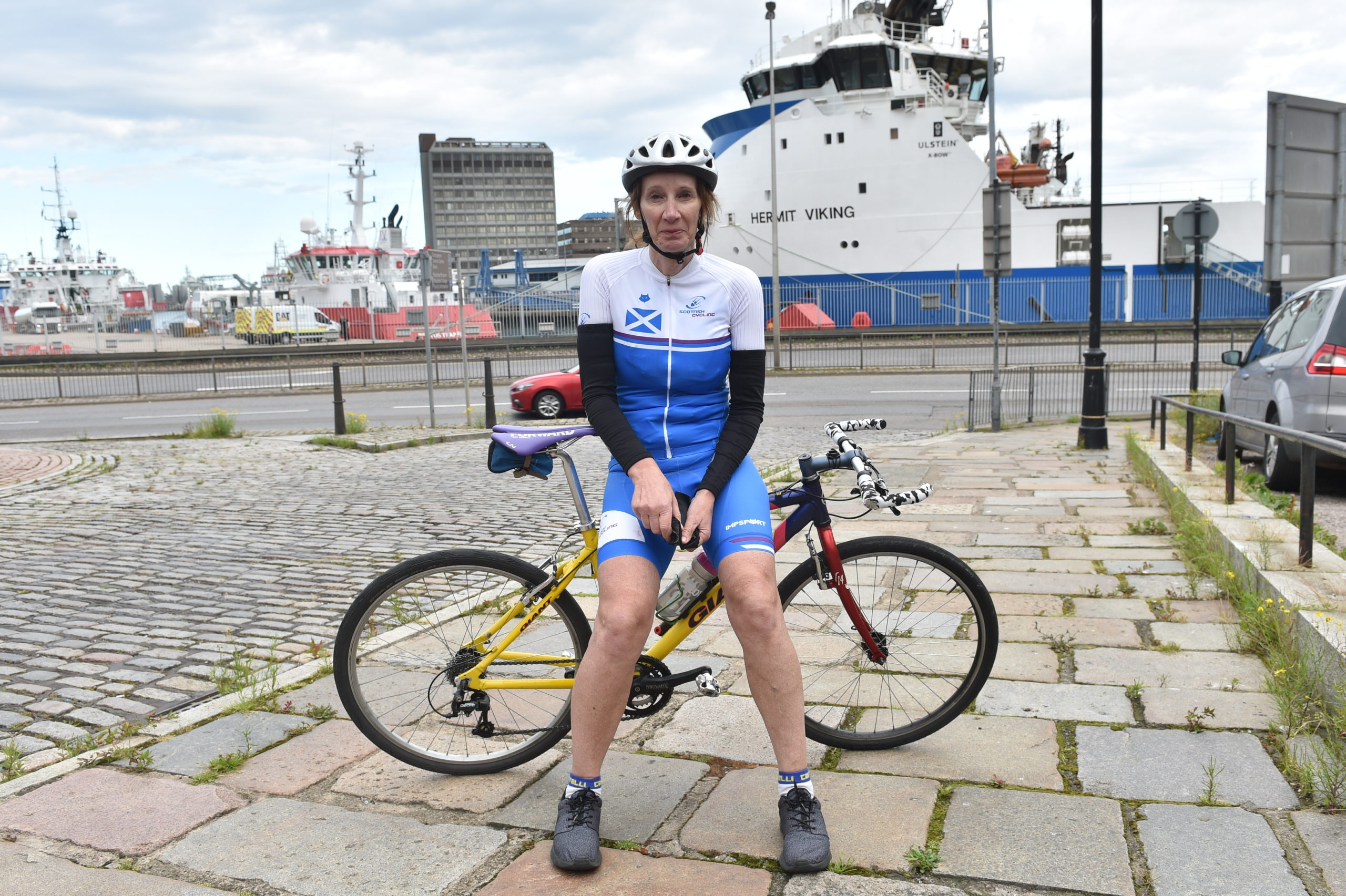 Philippa York at Aberdeen Harbour. Picture by Darrell Benns