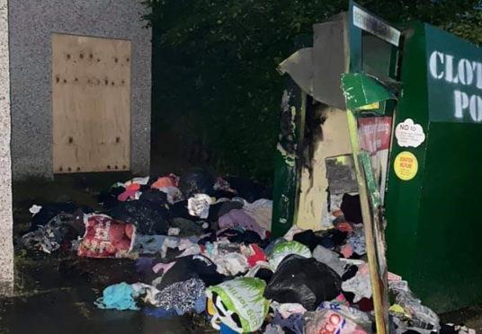 The damage bins at Gordon Park in Ellon