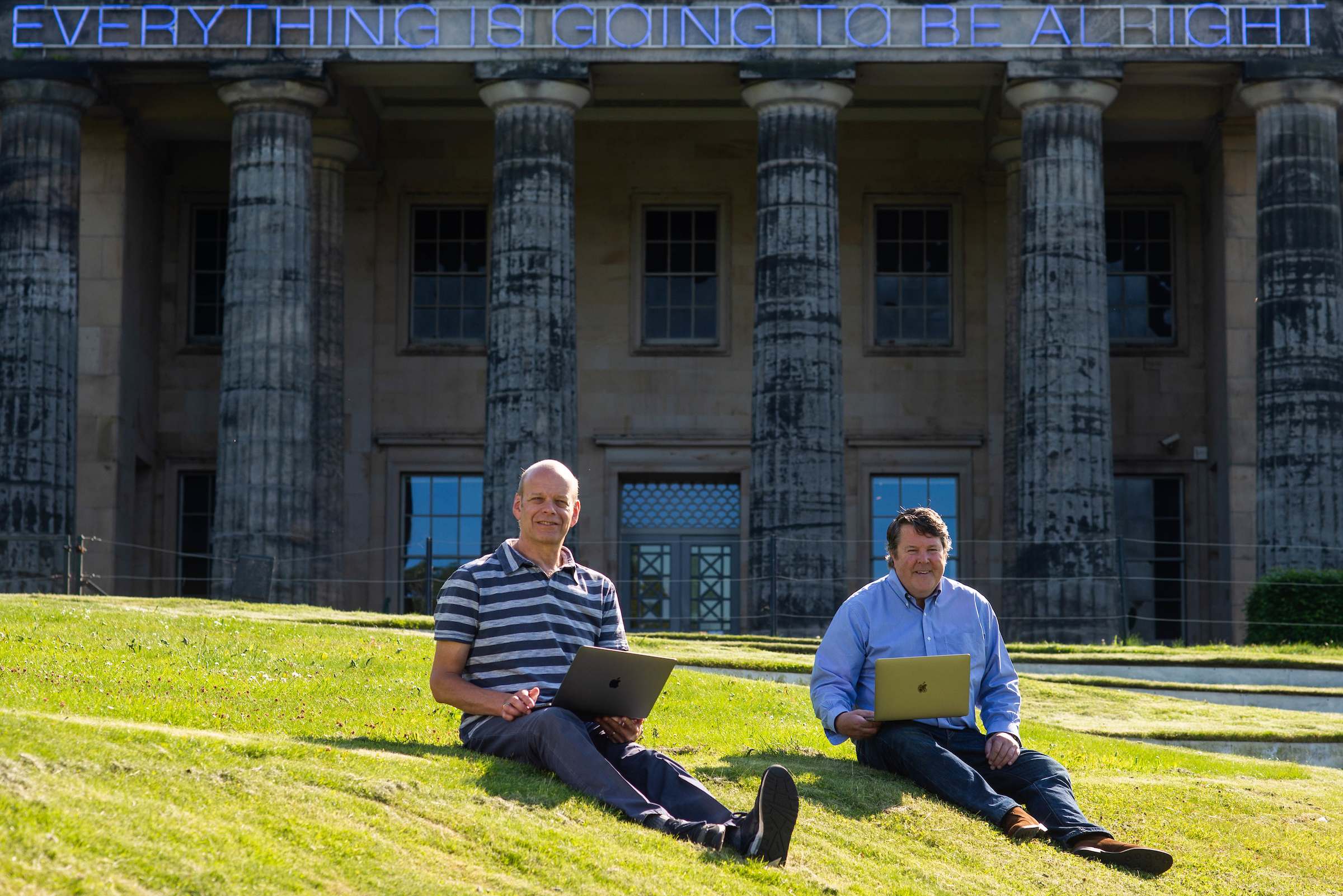 Scottish Tech Army founders Alistair Forbes and Peter Jaco