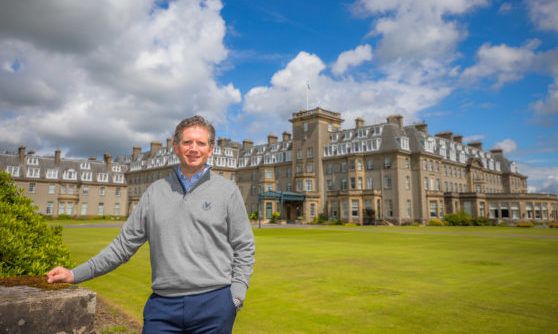 Conor O'Leary (joint managing director). Gleneagles Hotel, Auchterarder.