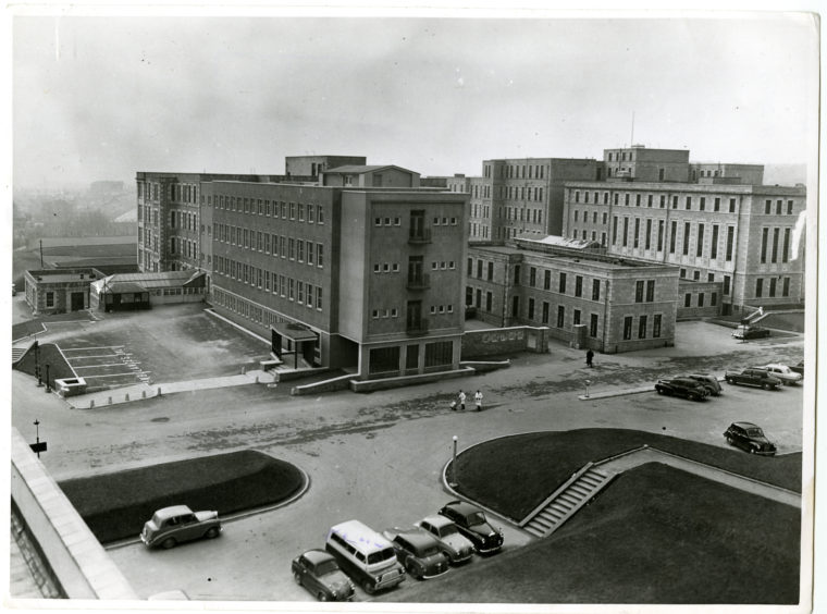 1956: The new block at Aberdeen Royal Infirmary
