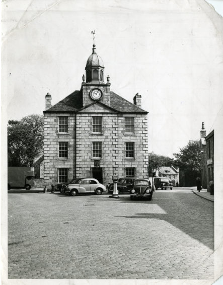 1958: The front elevation of the Town House, Old Aberdeen, Aberdeen.