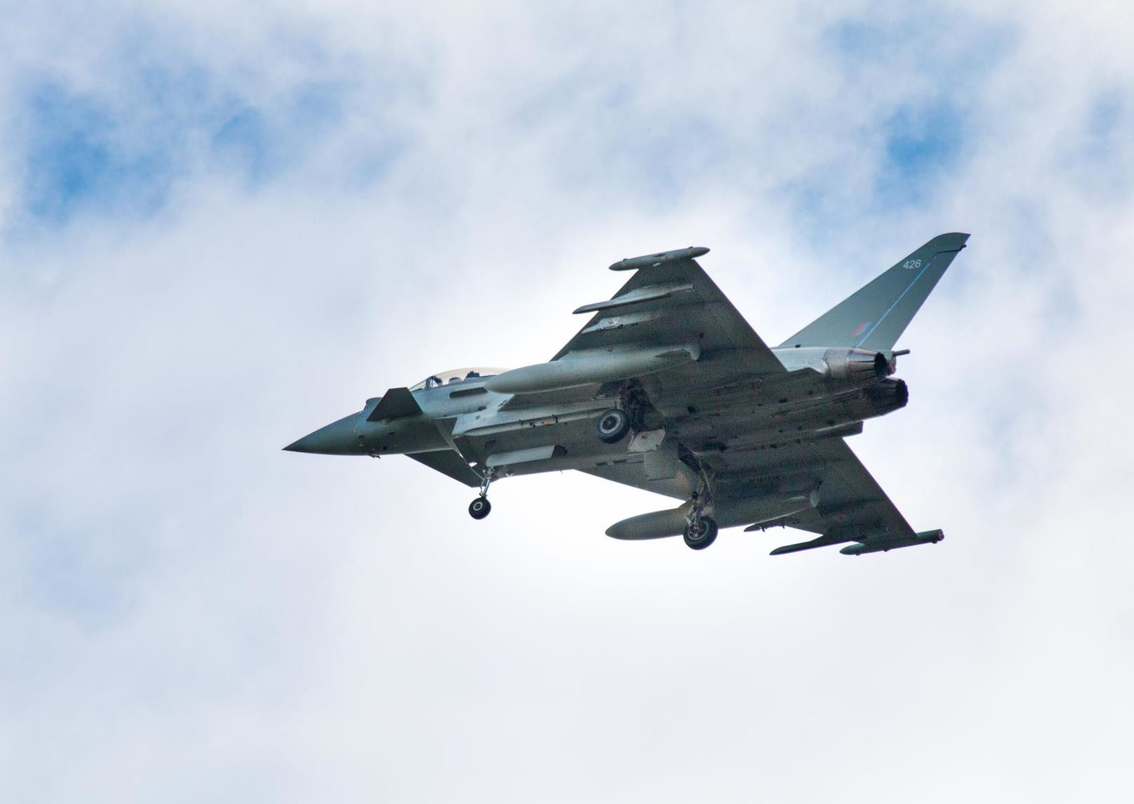 The RAF fighter jet today before the emergency landing