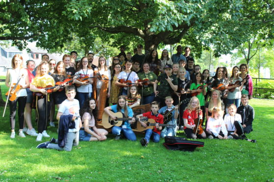 Young people at SC&T youth camp in 2019. Image courtesy of Scottish Culture and Traditions