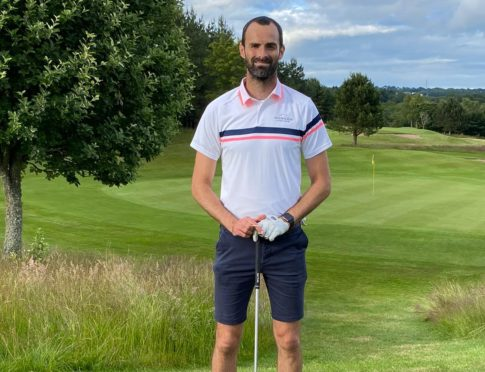 Joe Lewis at Newmachar Golf Club.