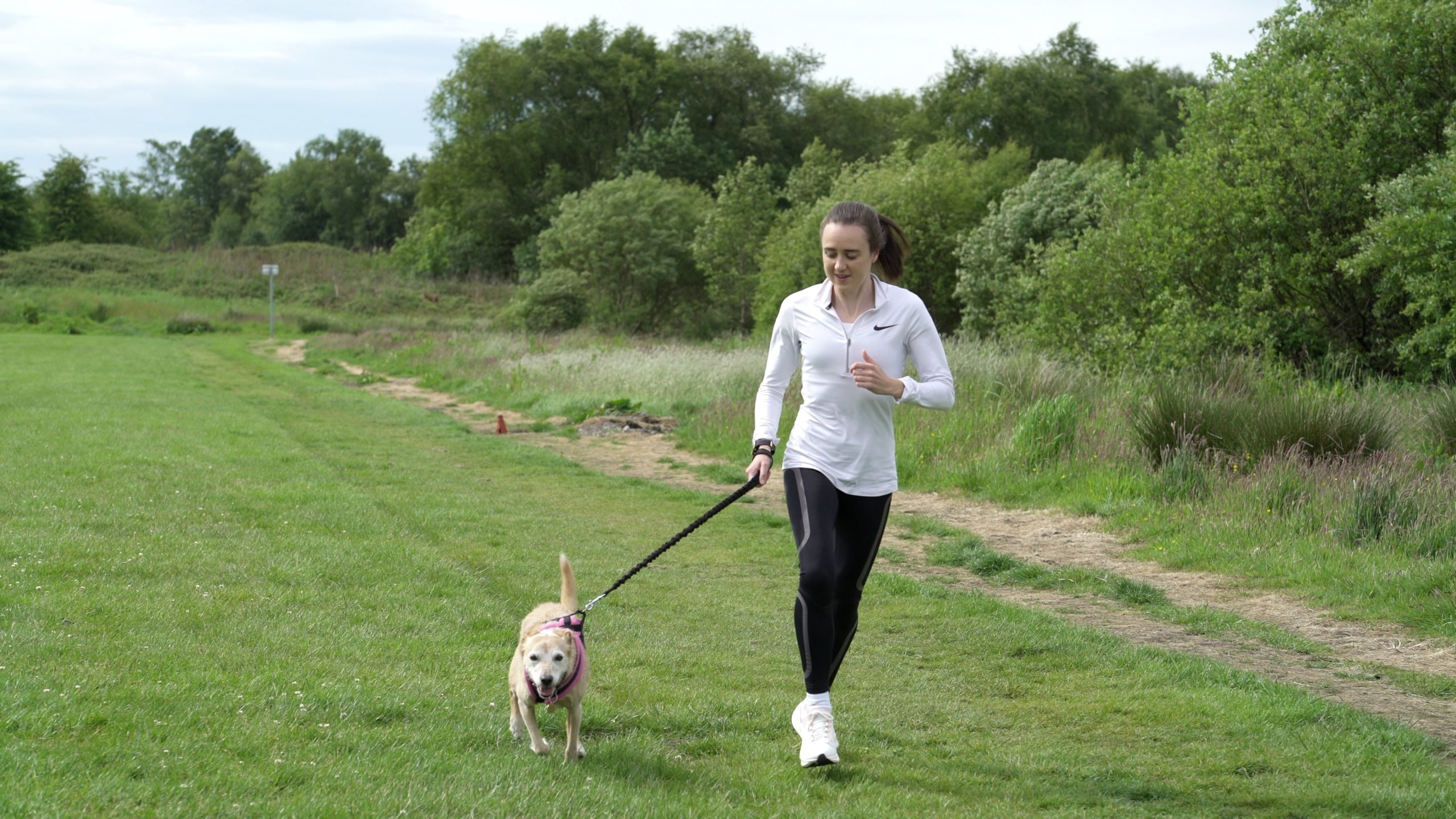 Laura Muir and her dog Jess