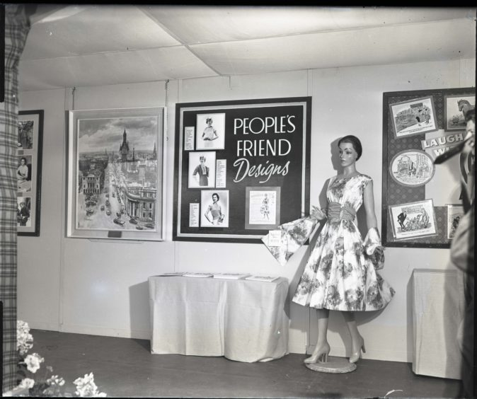 1959: The People's Friend exhibit on the Thomson-Leng stand at the Royal Highland Show, Hazlehead Park, Aberdeen.