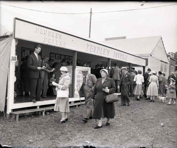 1959: The People's Journal exhibit at the Thomson-Leng stand at the Royal Highland Show, Hazlehead Park, Aberdeen.