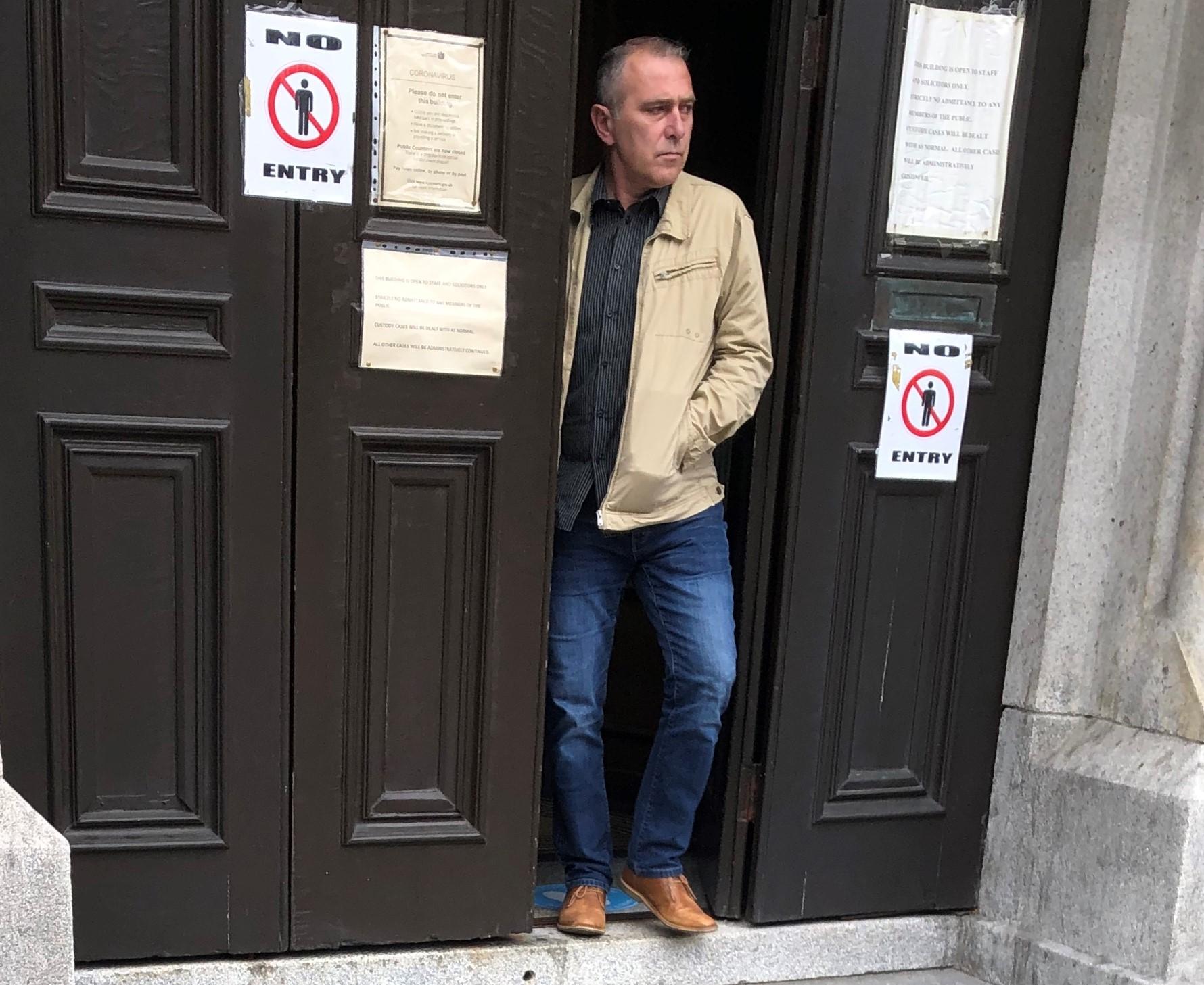 Marek Niecko leaving Aberdeen Sheriff Court.