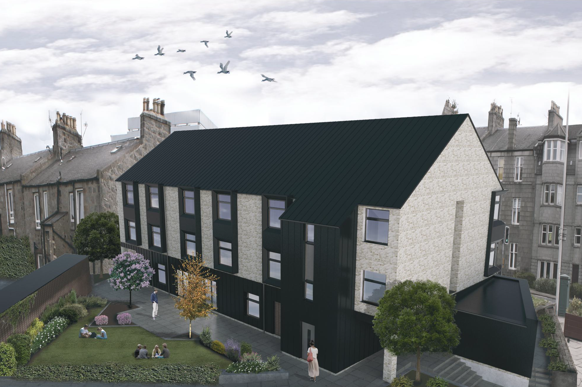 The facility is being built on the corner of Abergeldie Road and Holburn Street