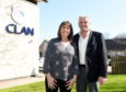 Fiona and Dave Cormack at CLAN, Westburn Road