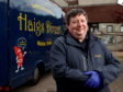 Haigs co-owner James Haig with his mobile butcher van. Picture by Scott Baxter