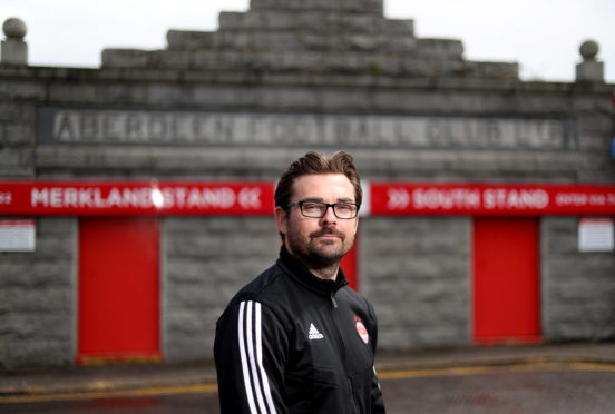 Aberdeen FC Women co-manager Stuart Bathgate. Picture by Scott Baxter
