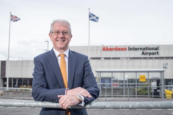 Interim managing director of Aberdeen International Airport Roger Hunt