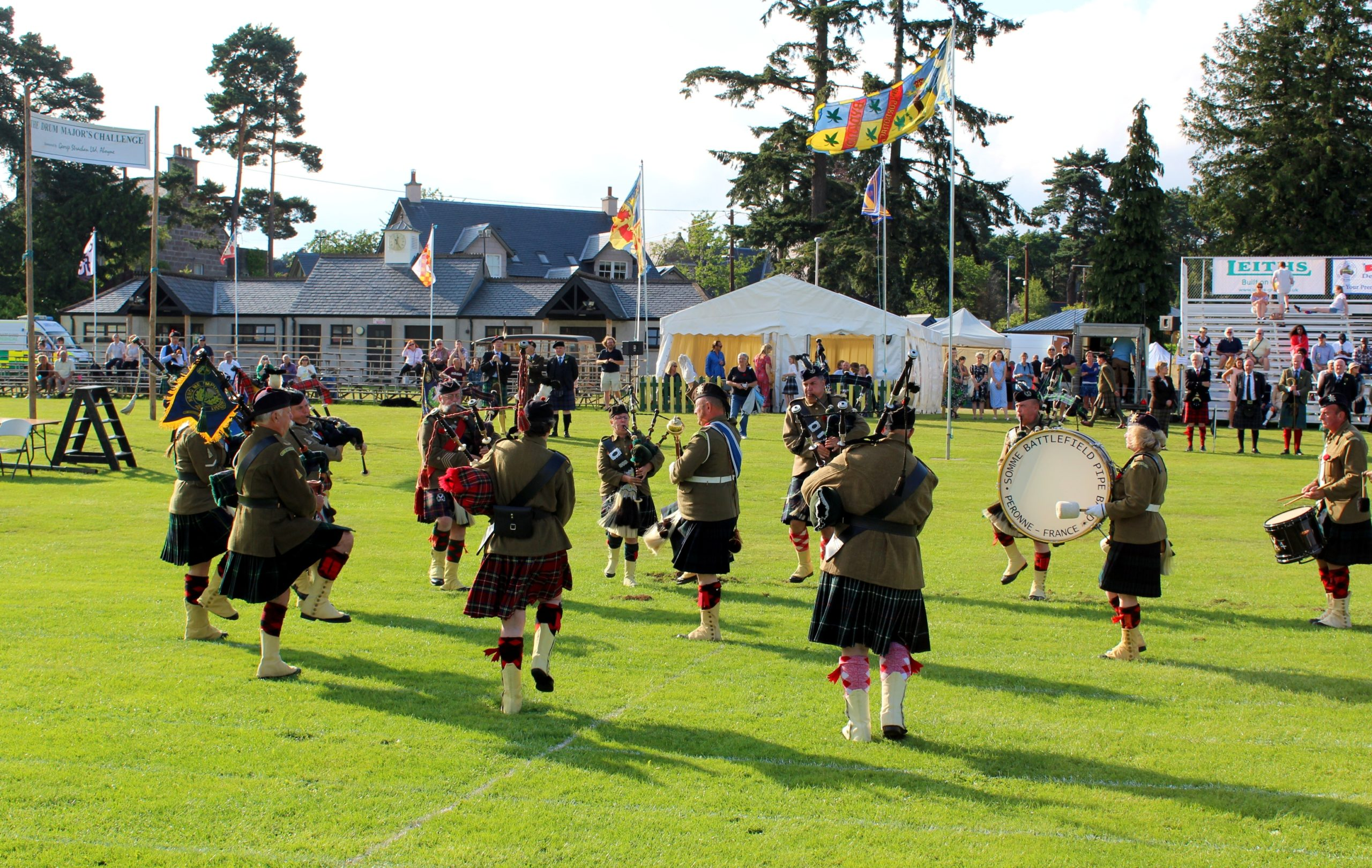 The Somme Battlefield Pipe Band at the 2019 Aboyne Highland Games