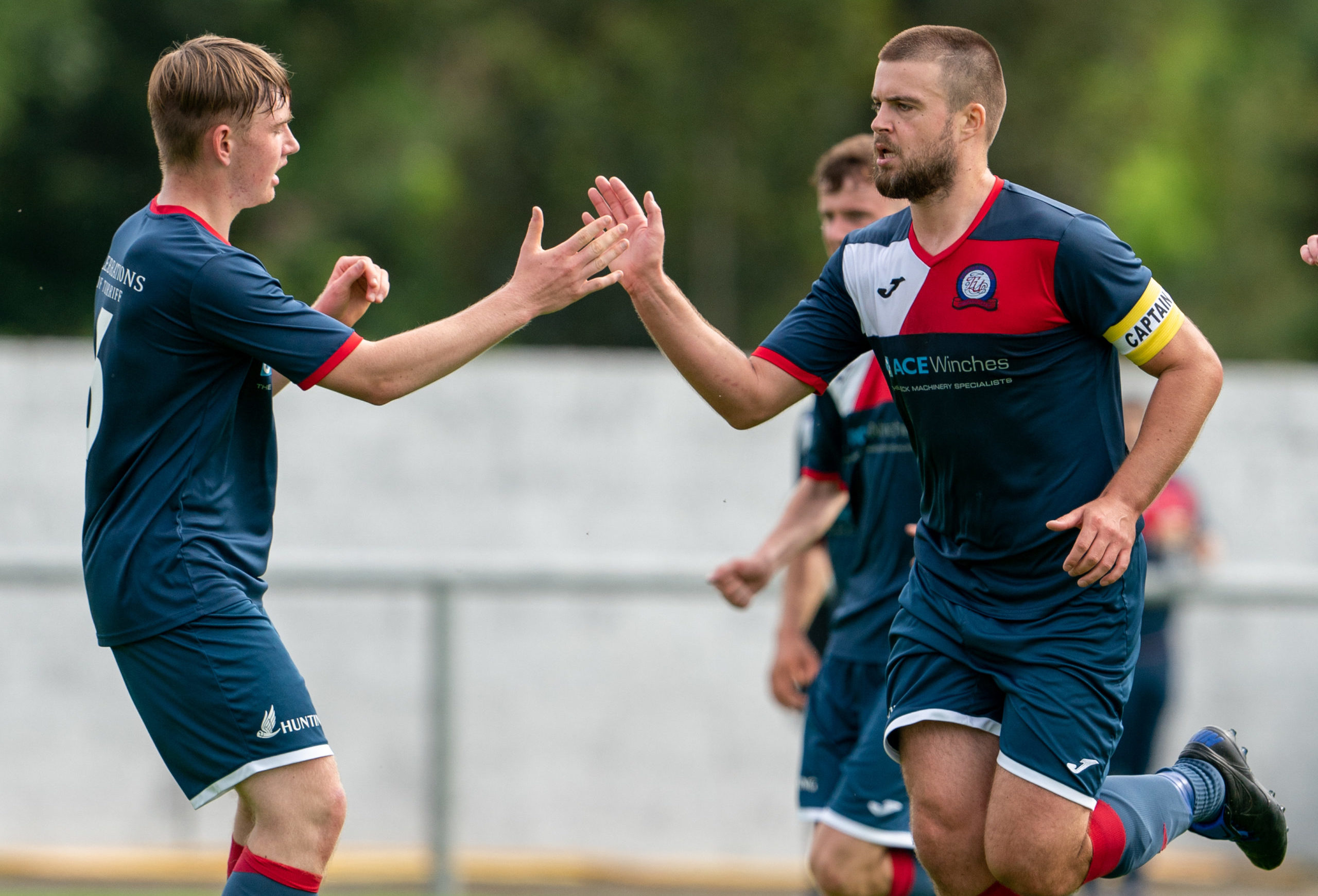 Cammy Bowden, right, during his time with Turriff United