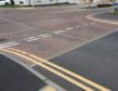 Temporary lines have been painted on Charleston Road North