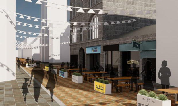 An artist's impression of what Belmont Street could look like