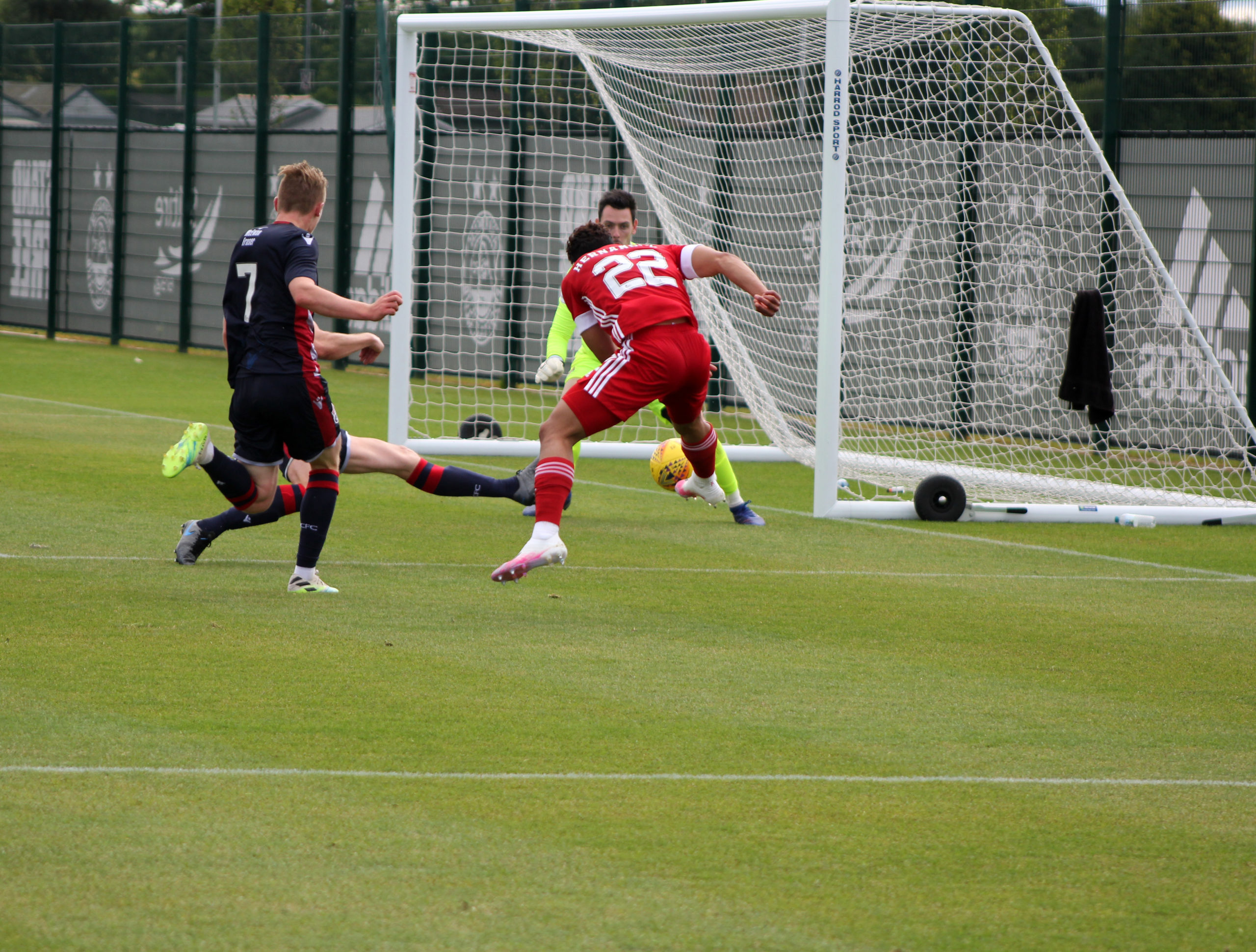 Aberdeen and Ross County's friendly on Saturday.